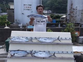 7月27日 大阪 鈴木氏 カツオ 40-55?  5匹(岬沖) (1024x764)