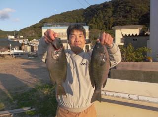 11月14日 堺  益田市 グレ 40㎝ 2匹 (センカイ奥) (1024x764)