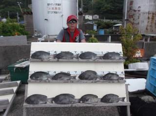 6月6日 大阪 米谷氏 グレ 40-45㎝ 12匹 中アジ、イサギ (センカイ奥)
