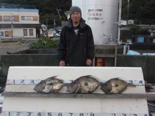 12月6日 大阪 大滝氏  マトウダイ 40?50? 3匹 (センカイ奥)