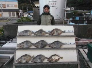 12月6日 大阪 金井氏 マトウダイ 40?55 ? 9匹 (センカイ奥)