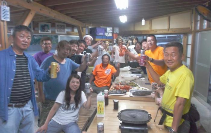 7月19日 大島フィッシング、ダイブアイランドのBBQ大会