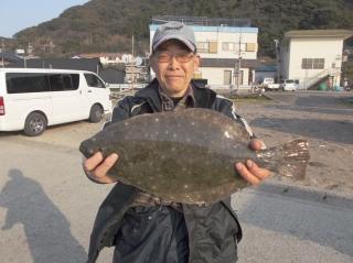 3月12日 大阪 乾氏  ヒラメ 55? (センカイカセ)