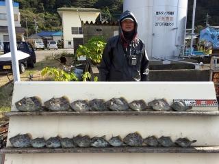 11月28日 大阪 西田氏他 カワハギ 約35匹 (カワギ船) (6)