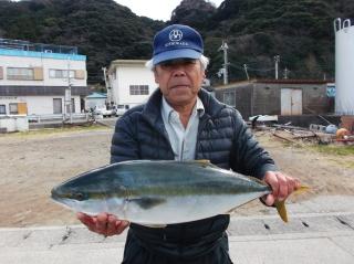 1月13日 大阪 西出氏  メジロ 75㎝ (外の浜カセ)