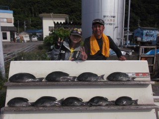 5月21日 大阪、丹波 神林トモさん、小柴氏 グレ 35-50㎝ 9匹 (センカイ奥)食いが渋いなかまずまずの釣果です