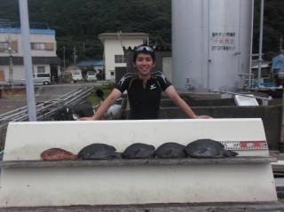 7月17日 奈良 森田氏 35-45㎝ 4匹 イガミ (センカイ奥)
