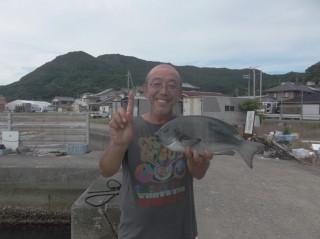 8月5日 大阪 兼崎氏 グレ 45? (赤灯台前カセ)